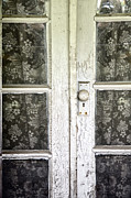 French Doors Metal Prints - Lace Curtains Metal Print by Margie Hurwich