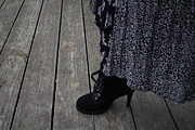 High Heeled Prints - Lace up Boot  Print by Stephanie Lindsay
