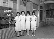 Waitresses Prints - Lacey Lanes - Waitresses 1964 Print by Merle Junk