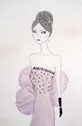 Evening Gown Pastels - Lacey Lavender  by Christine Corretti
