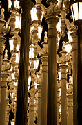 Exhibit Prints - LACMA Light Exhibit in LA 7 Print by Micah May