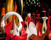 Lacquer Photos - Lacquerware Vases by Rick Piper Photography
