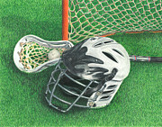 Photo Realism Drawings - Lacrosse by Troy Levesque