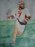 Lacrosse Paintings - Lacrosse Warrior #1 by Jann Barron