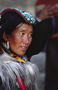 Coral Dress Art - Ladakhi Beauty - Ladakh India by Craig Lovell