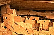 Mesa Verde Framed Prints - Ladders To Long House Framed Print by Adam Jewell