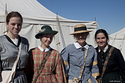 Reenact Prints - Ladies From The Civil War Reenactment Print by Ivete Basso
