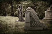 Grave Photo Metal Prints - Ladies of Sorrow Metal Print by Tom Mc Nemar