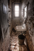 Abandoned Buildings Photo Prints - Ladies room Print by Gary Heller