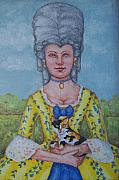 18th Century Painting Originals - Lady Abigail by Beth Clark-McDonal