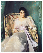 Portrait Of A Woman Posters - Lady Agnew of Lochnaw Poster by John Singer Sargent