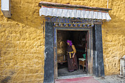 All - Lady and Prayer wheel  by Hitendra SINKAR