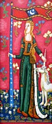 Byzantine Paintings - Lady and The Unicorn la pointe by Genevieve Esson