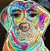 Puppies Mixed Media - Lady Boxer by Eloise Schneider