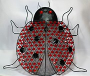 Good Luck Prints - Lady Bug  Beetle - Decoration2 Print by Barbara Griffin