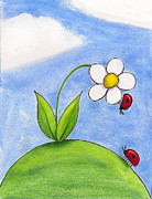 Kids Room Art Paintings - Lady Bug Love by Christy Beckwith