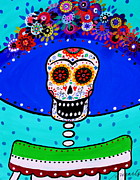 Pristine Cartera Turkus Prints - Lady Catrina Y Frida Print by Pristine Cartera Turkus