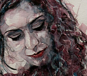 Watercolor Cat Paintings - Lady DArbanville by Paul Lovering