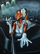 Jazz Painting Originals - Lady Day by Joel Gwidt