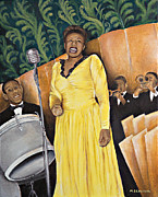 Ella Paintings - Lady Ella at the Savoy by Melanie Beaudoin