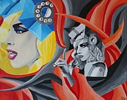 Fan Art Painting Originals - Lady Gaga by Jennifer Hayes