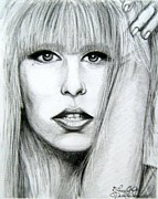 Lady Gaga Drawings Originals - Lady GaGa by Patrice Torrillo