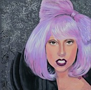 Singer Paintings - Lady Gaga by Shirl Theis