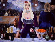 Gaga Paintings - Lady GaGa Time Traveler by Merv Scoble