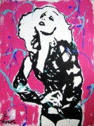 Female Art Mixed Media Print Mixed Media Posters - Lady Gaga Poster by Venus