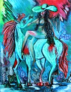 Impressionism Pastels Originals - Lady Godiva by Lorenzo Muriedas