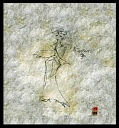 Panel Drawings - Lady in a White Suit 1998 by Cathy Peterson