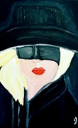 Judy Minderman Framed Prints - Lady in Black Framed Print by Judy Minderman