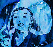 Actors Digital Art Posters - Lady In Blue Poster by Jack Zulli