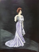 Gown Pastels - Lady in Gown by Cathy Jourdan
