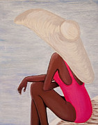 Print On Canvas Pastels Prints - Lady In Pink Print by Dana Kern