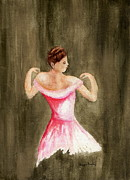 Night Out Painting Originals - Lady in Pink by Tamyra Crossley