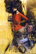 Giovanni Boldini - Lady in red coat