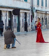 Ann Johndro-Collins - Lady in Red Dubrovnik