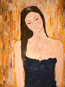 Deep In Thought Paintings - Lady In Waiting by Kathleen Peltomaa Lewis