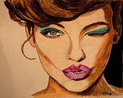 Makeup Painting Originals - Lady by Joseph Hawkins