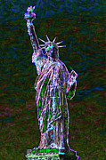 Statue Of Liberty Digital Art Metal Prints - Lady Liberty 20130115 Metal Print by Wingsdomain Art and Photography
