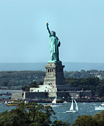 Statue Of Liberty Photos - Lady Liberty by Kristin Elmquist