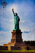 Artography Acrylic Prints - Lady Liberty Lifts her Light Acrylic Print by Mark E Tisdale