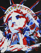 Patriotic Paintings - Lady Liberty  by Patricia Olson