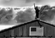 God Bless America Prints - Lady Liberty Print by Ron White