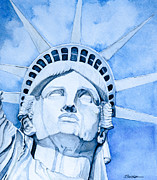 Patriotism Paintings - Lady Liberty by Scott  Parker