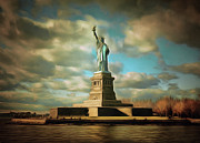 Lady Liberty The Statue- Nyc Print by Zeana Romanovna