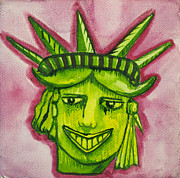 Asbury Park Funhouse Painting Originals - Lady Liberty Tillie by Patricia Arroyo