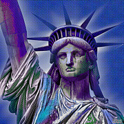 Lady Liberty Print by Tony Rubino