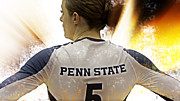 Psu Posters - Lady Lion Poster by Gallery Three